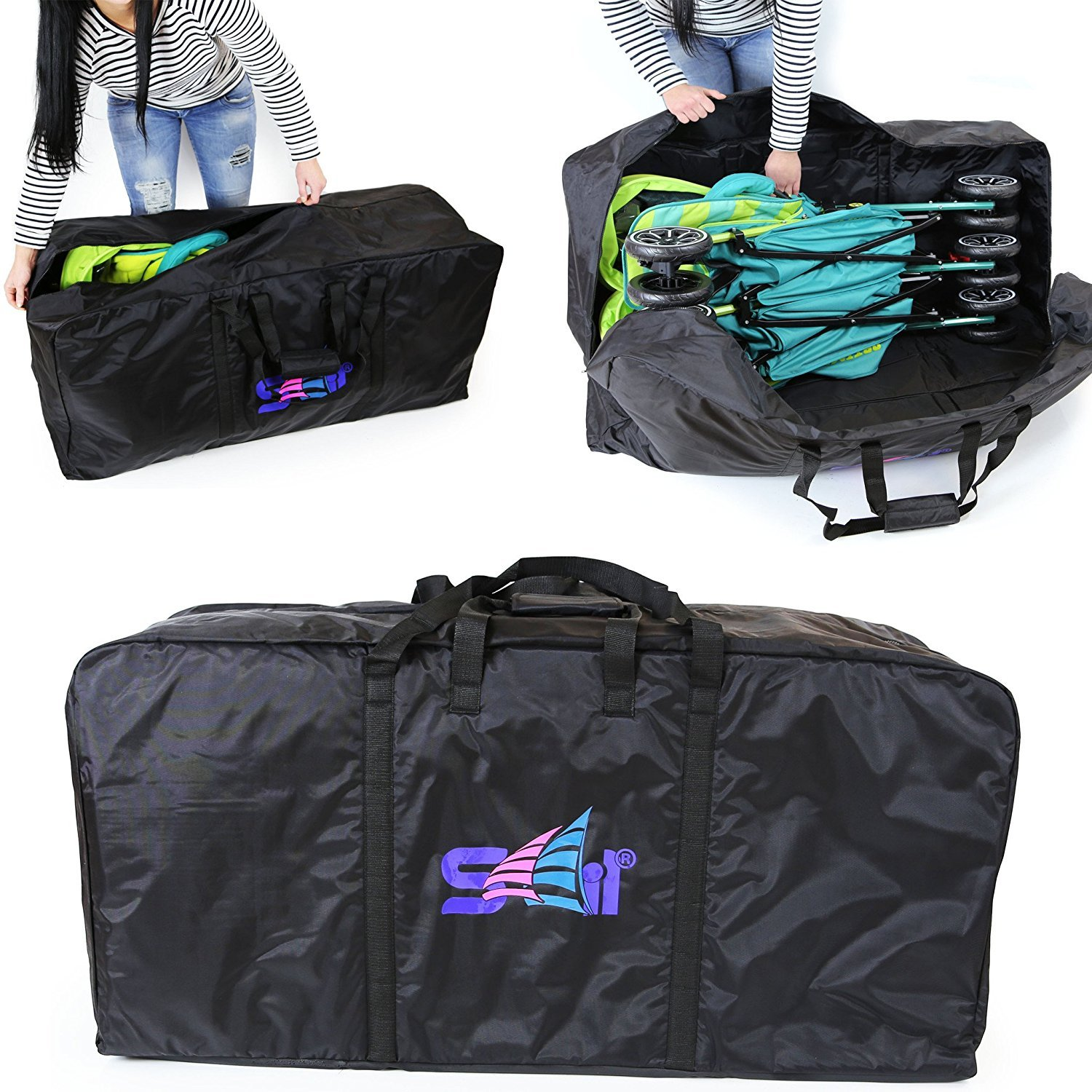 Twin Stroller Luggage Bag For Chicco Echo Double Buggy (Transport Bag) iSafe SailTravelBag