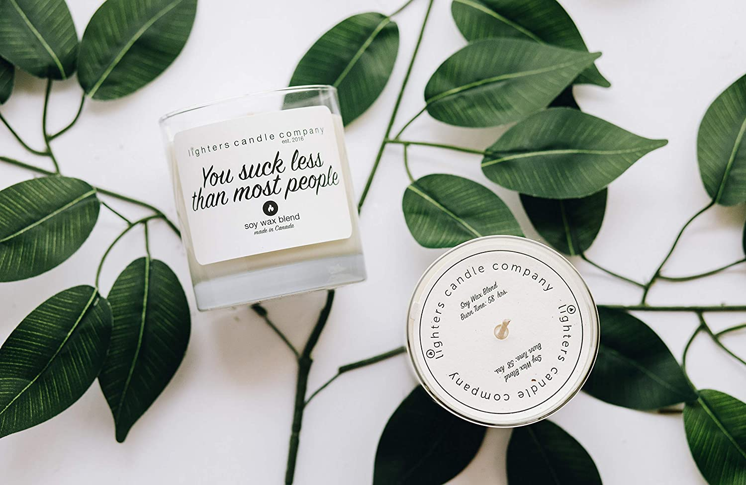 You suck less than most people Soy Candle, Funny Gifts, Lover, Lighters Candle Company