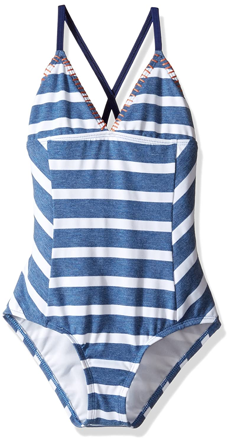 Splendid Big Girls' Chambray Cottage One Piece Swimsuit