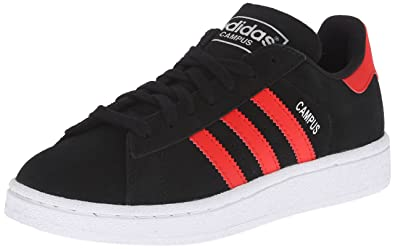 black leather adidas shoes with red stripes 638046