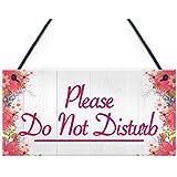 Red Ocean Please Do Not Disturb Therapist Hotel Privacy Hanging Plaque Home Door Gift Sign