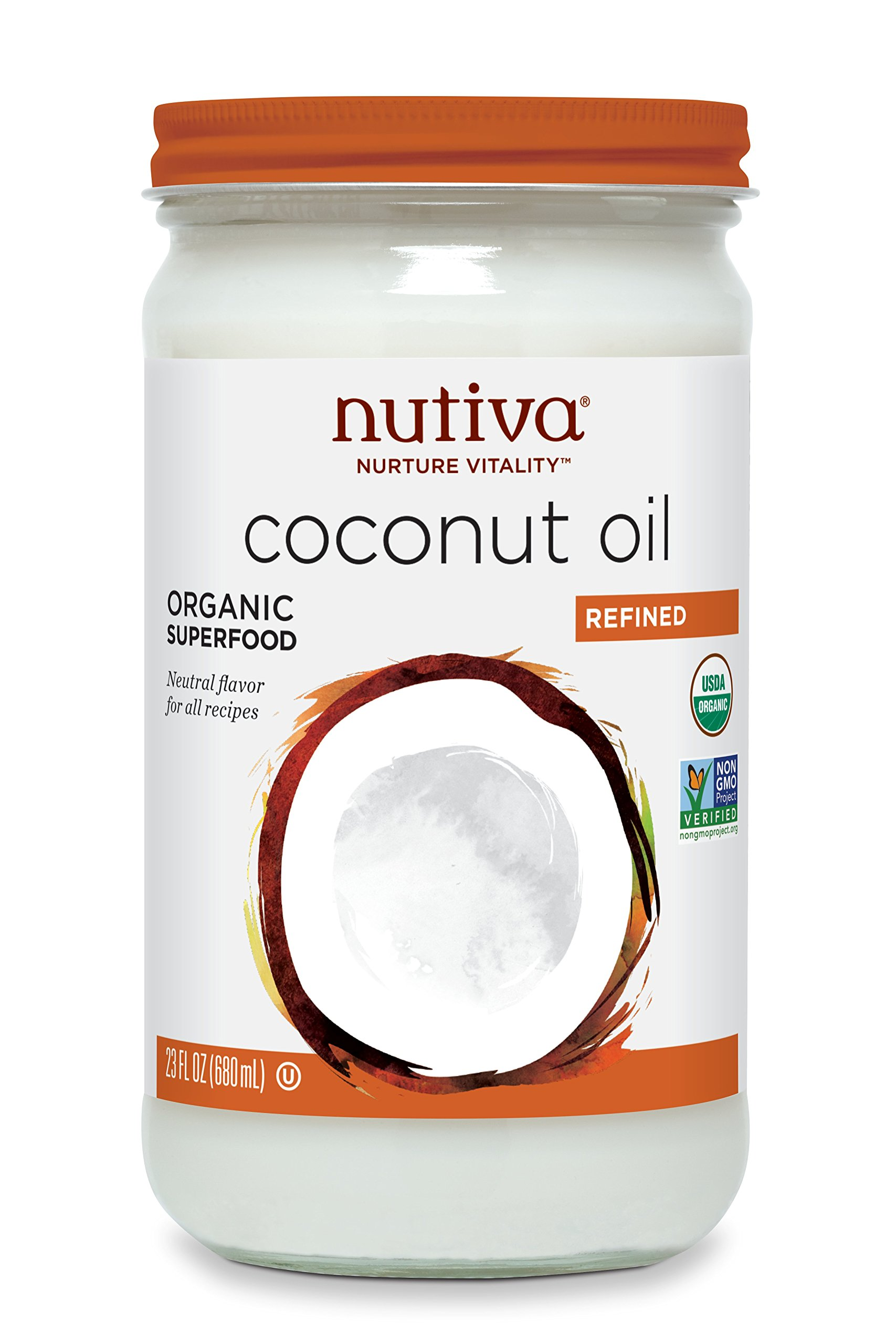 Nutiva Refined Coconut Oil, 23 Ounce by Nutiva