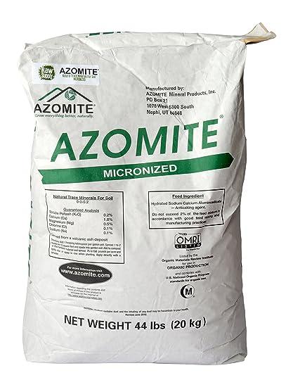 Raw Supply Azomite Organic Trace Mineral Bulk Fertilizer Powder, 176 lb
