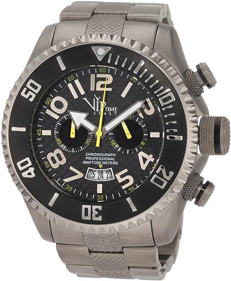 Vip Time Italy Reloj con movimiento cuarzo japonés VP5041TT_TT Plateado 50 mm: Amazon.es: Relojes