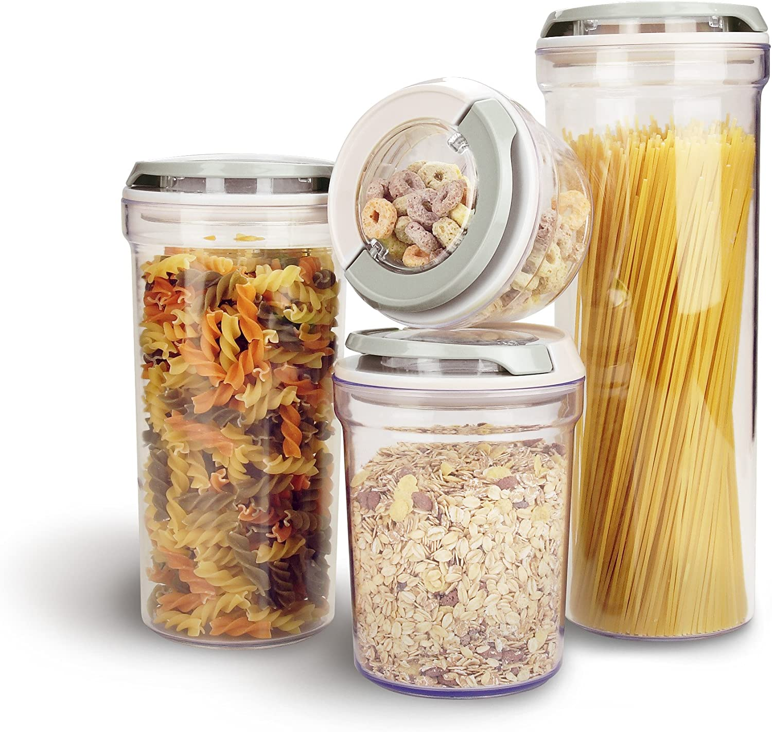 Food Containers Airtight Durable Food Storage Quality Clear Plastic Boxes Set