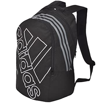 1746ffef5d Adidas SMU Logo Unisex Backpack School Bag - Black/White: Amazon.co ...
