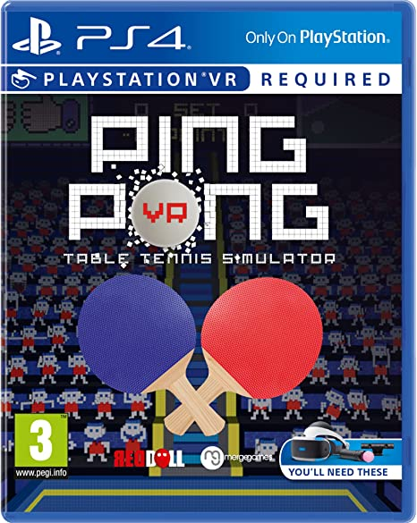 Amazon com: PS4 PING PONG VR (PSVR ONLY) (EU): Toys & Games