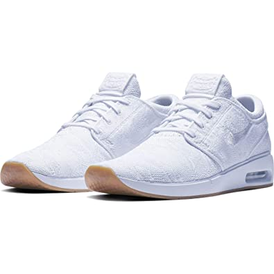 detailed look ddcb4 04238 Image Unavailable. Image not available for. Color  Nike Men s SB Air Max  Janoski 2 Skateboarding Shoes (White White-Gum Yellow