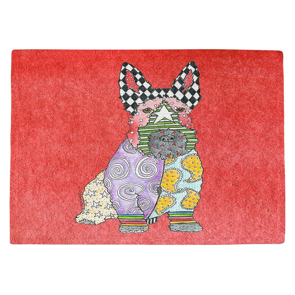 DIANOCHEキッチンPlaceマットby Artist Marley Ungaro – Scottish Terrier Watermelon Set of 4 Placemats PM-MarleyUngaroScottishTerrWatermel2 Set of 4 Placemats  B01N3XNWTE