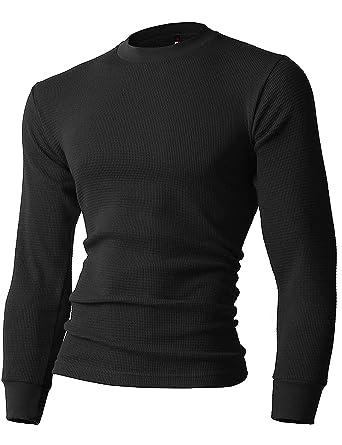 6adb9998 Amazon.com: Mens Heavyweight Thermal Shirts Long Sleeve Cotton Crew ...