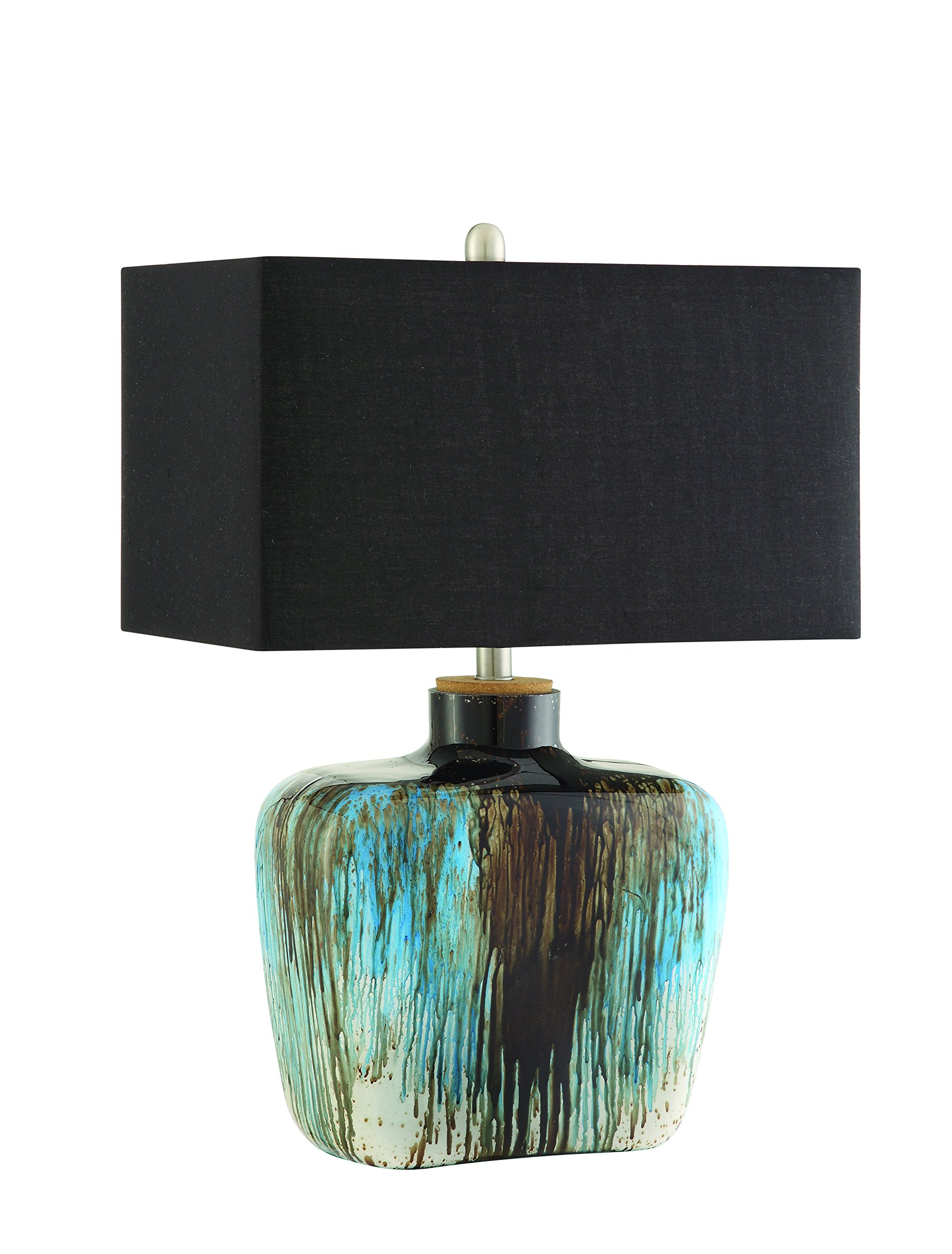 Coaster 901246 Home Furnishings Table Lamp, Antique Silver/Blue