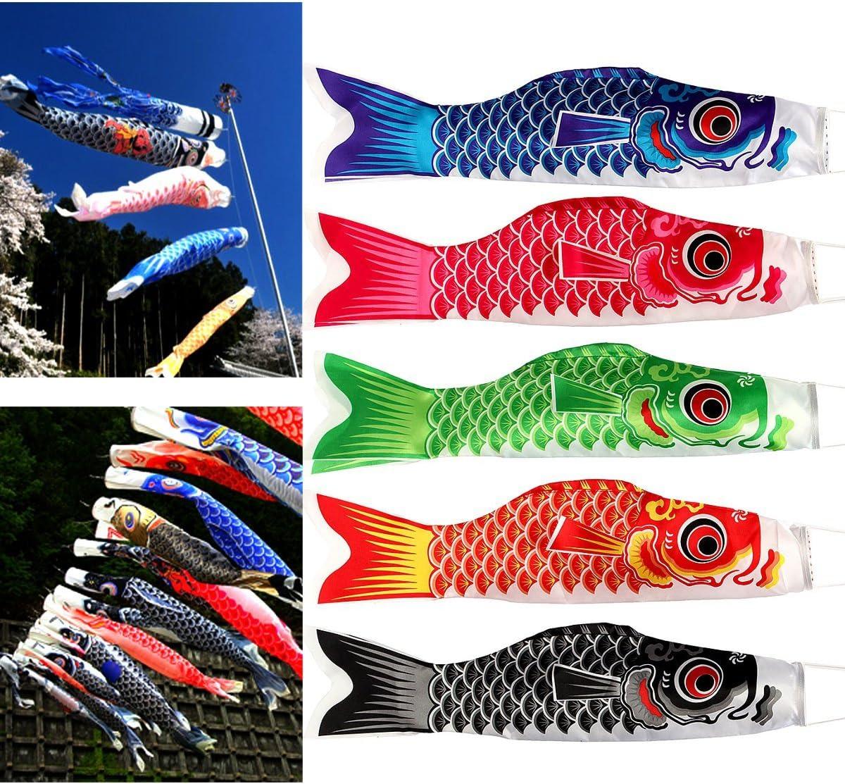 5x Japan Windsack Karpfenflagge Koi Nobori Sailfish Wind Streamer Flagge Drachen