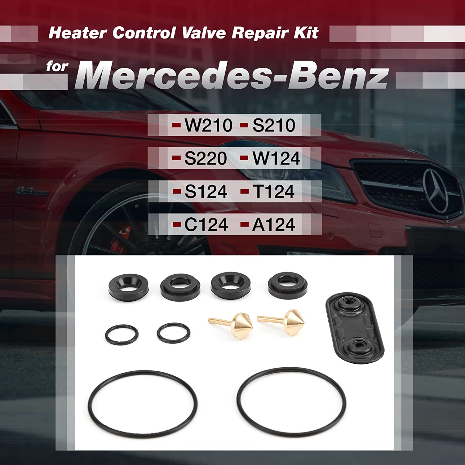Amazon.com: Heater Valve Repair Kit Compatible with Mercedes-Benz Cars - Set of Heater Repair Parts for Self-Repair - W210, W220, W124, W202: Automotive