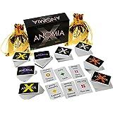 Anomia X Party Game _ Bonus 2 Gold Drawstring Pouches _ Bundled Items