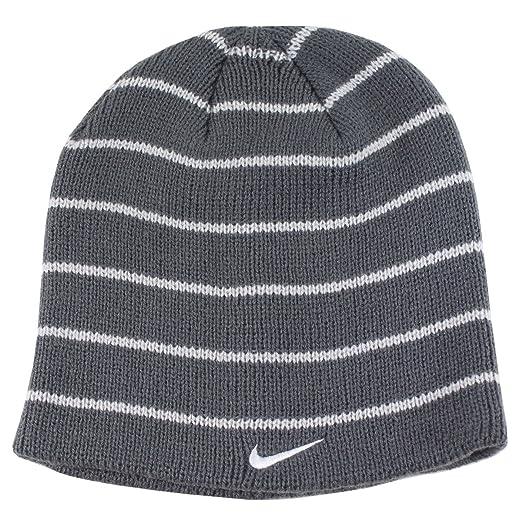732d78f4a06 order nike youth boys 8 20 stripe beanie hat dark grey 30a5e 43003
