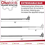 Olsa Tools Extendable Breaker Bar, 1/2-Inch
