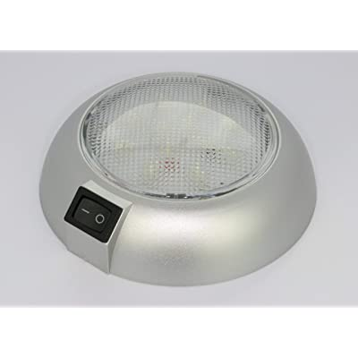 Battery Powered LED Dome Light - Magnetic or Fixed Mount - High Power White LED Downlight for Home, Auto, Truck, RV, Boat and Aircraft: Home Improvement