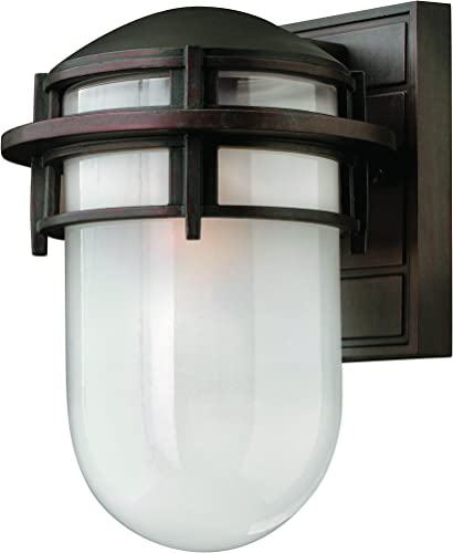 Hinkley 1950VZ Transitional One Light Wall Mount from Reef collection in Bronze Darkfinish,