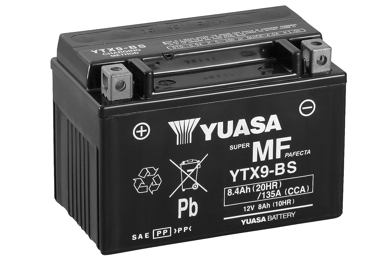 YUASA BATERIA YTX BS AGM abierto con paquete de ácido