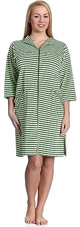 Merry Style Bata Ropa de Casa Lenceria Mujer MS561 (Verde, S)