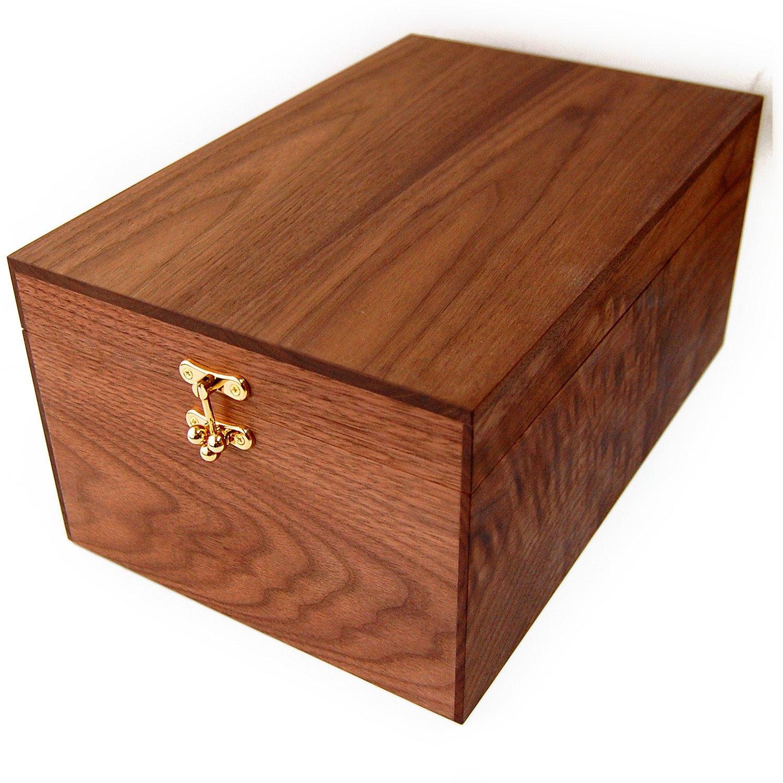 [銀座大賀靴工房] シューケア ボックス 【木箱のみの単品販売】ウォールナット製ボックス B011TAO5GO