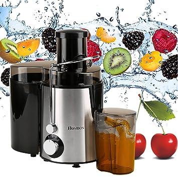 homdox - Exprimidor eléctrico de acero inoxidable para frutas y verduras: Amazon.es: Hogar