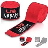 Premium Boxbandagen von Urban Brigade (4m) – Inklusive Stofftasche – Halb-Elastische Bandagen mit breitem Klettverschluss