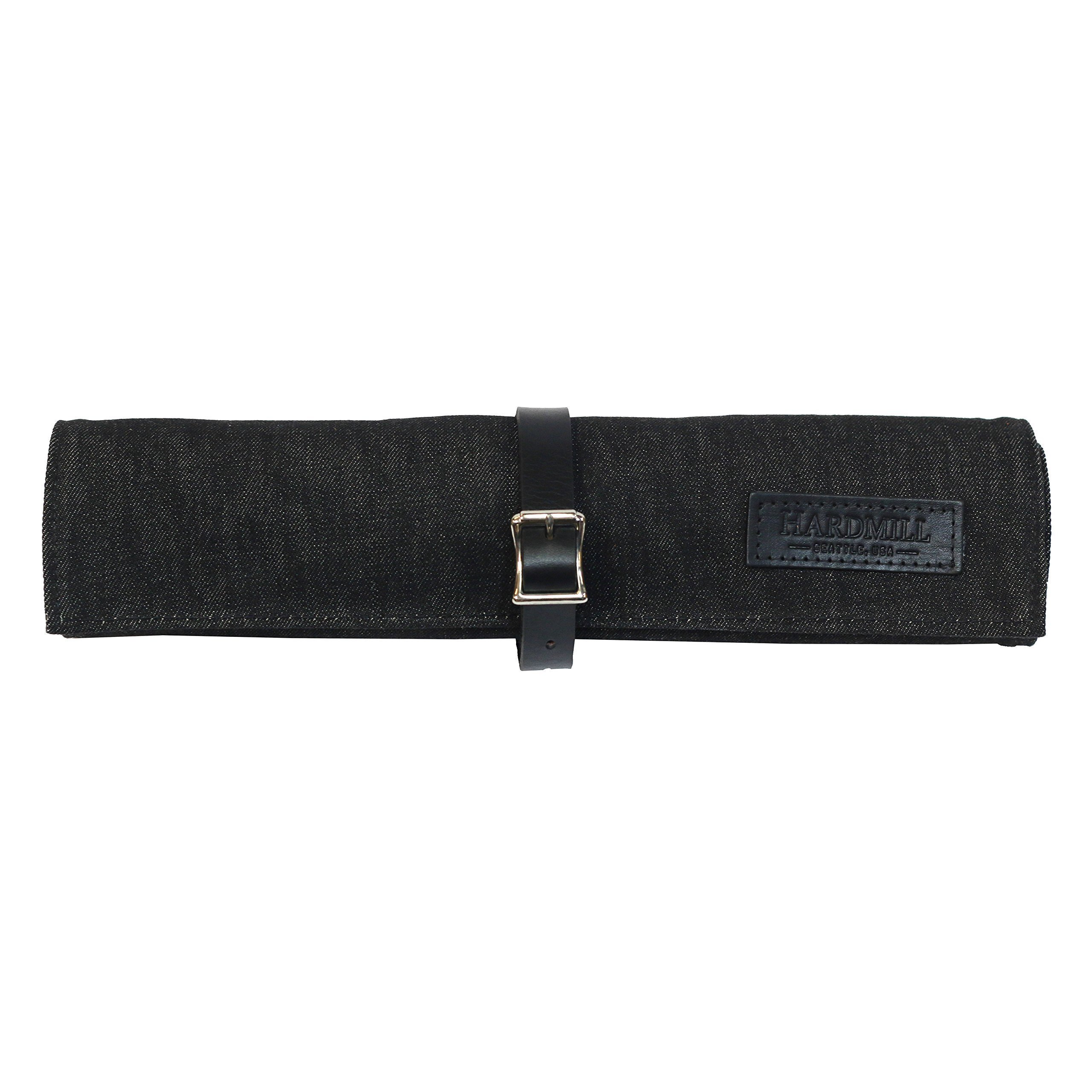Tool Roll - Waxed Denim - Black - Made in USA by Hardmill