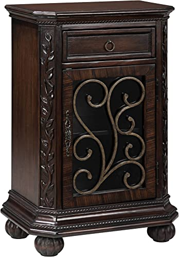 Arriana 22 1 2 Wide Cherry Finish Accent Table – Kensington Hill