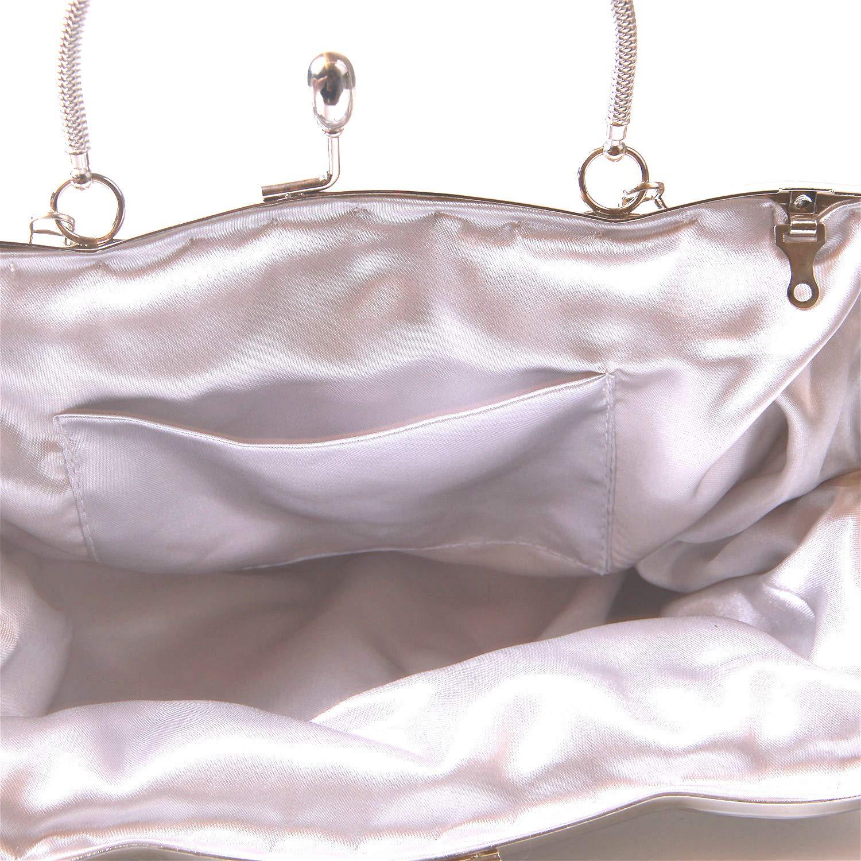 Pochette de Soir/ée EVEOUT Exquisite Collection Perle de Rocaille Floral Antique Pochette souple