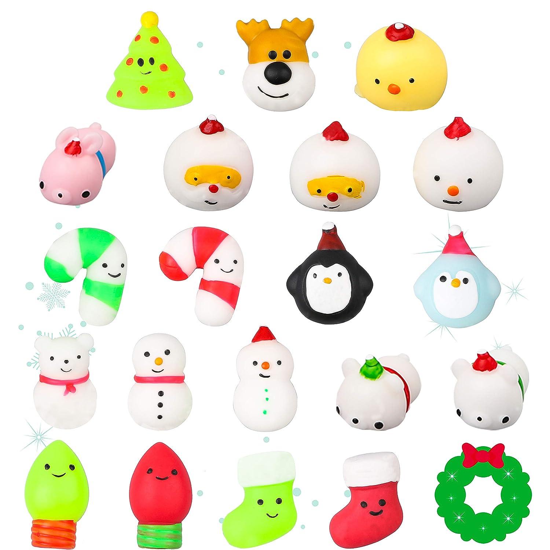 Amazon.com: WATINC 20 piezas de juguetes de Navidad Mochi ...