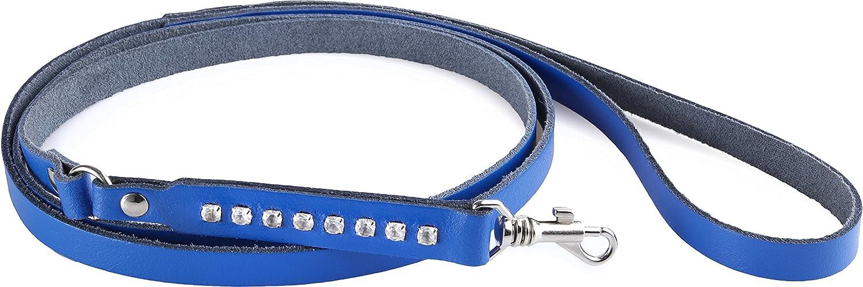 Azul, 120 cm Garronda Correa de Perro Hecho de Cuero Suave 120 cm 897