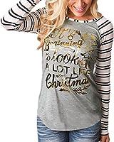 ZANZEA Femme Casual Imprimé Basic Chemise à Manches Longues T-shirt Rayure Sweats Tops Hauts