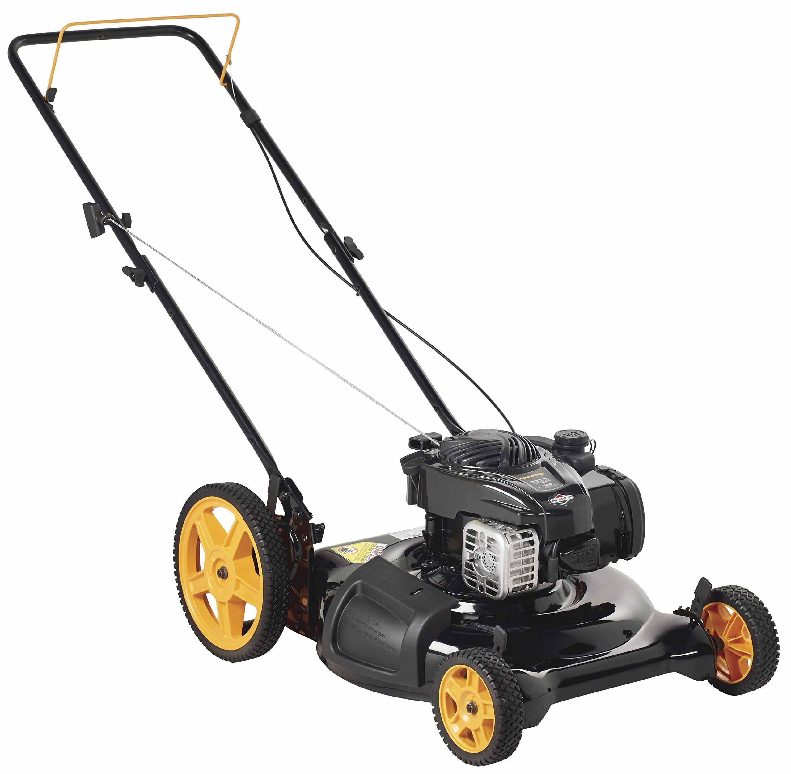 Poulan Pro 961120134 PR500N21SH Briggs 500ex Side Discharge/Mulch 2-in-1 Hi-Wheel Push Mower in 21-Inch Deck, 11-inch wheels