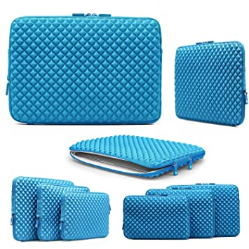 Funda Universal , URCOVER Estuche para Tablet Ordenador Portátil 13 Pulgadas Funda de Viaje Protección Sleeve Bolso en Azul Laptop MacBook Notebook ...