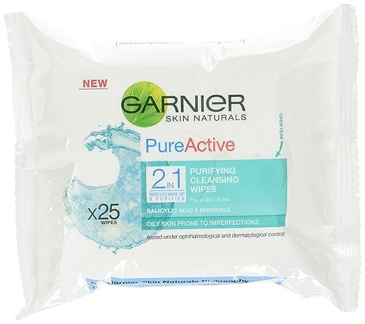 Garnier Pure Activo diario profunda de los poros imperfecciones de la lavar y Shine: Amazon.es: Belleza