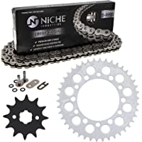 NICHE Drive Sprocket Chain Combo for Kawasaki KX65 Suzuki RM65 Front 13 Rear 47 Tooth 420V O-Ring 110 Links
