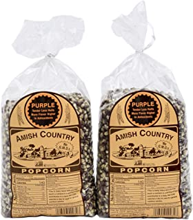 product image for Amish Country Popcorn | 2 - 2 lb Bags | Purple Popcorn Kernels | Old Fashioned with Recipe Guide