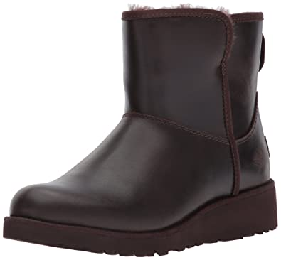 UGG Women's Kristin Leather Winter Boot,Stout,5 ...