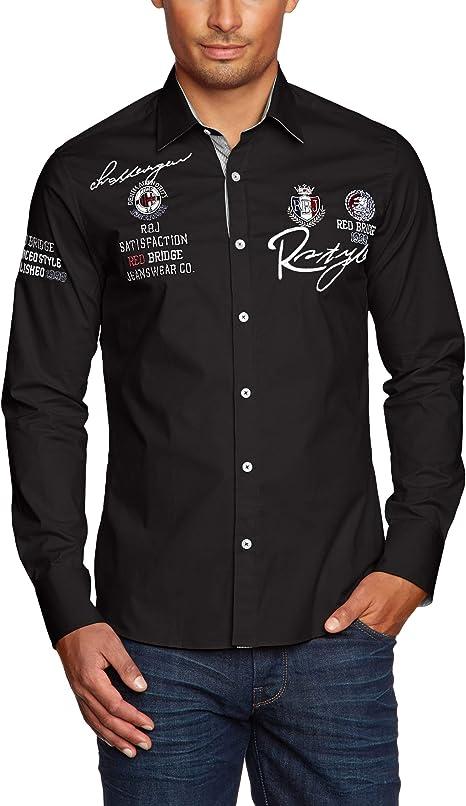 Redbridge R-2130 Camisa Regular Fit de Manga Larga para Hombre