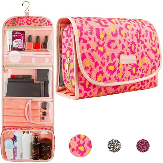 Hanging Travel Toiletry Bag Cosmetic Make up Organizer Kit for Women and Girls TSA Approved best women's travel accessories