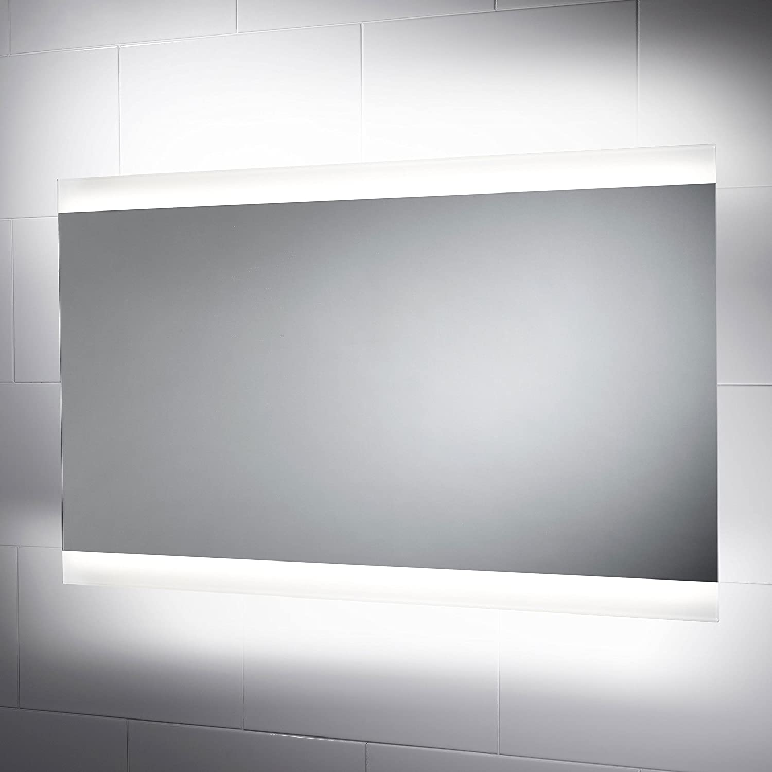 Horizon Illuminated Bathroom Mirror 1000mm(w) x 600mm (h) with ...