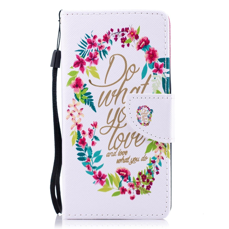 Felfy Kompatibel mit Huawei Honor 7 H/ülle Tasche Leder Flip Case Kreativ Bunt Gemalt Muster Ledertasche,Huawei Honor 7 HandyH/ülle PU Leder mit Weiche Silikon Innere Cover Tasche