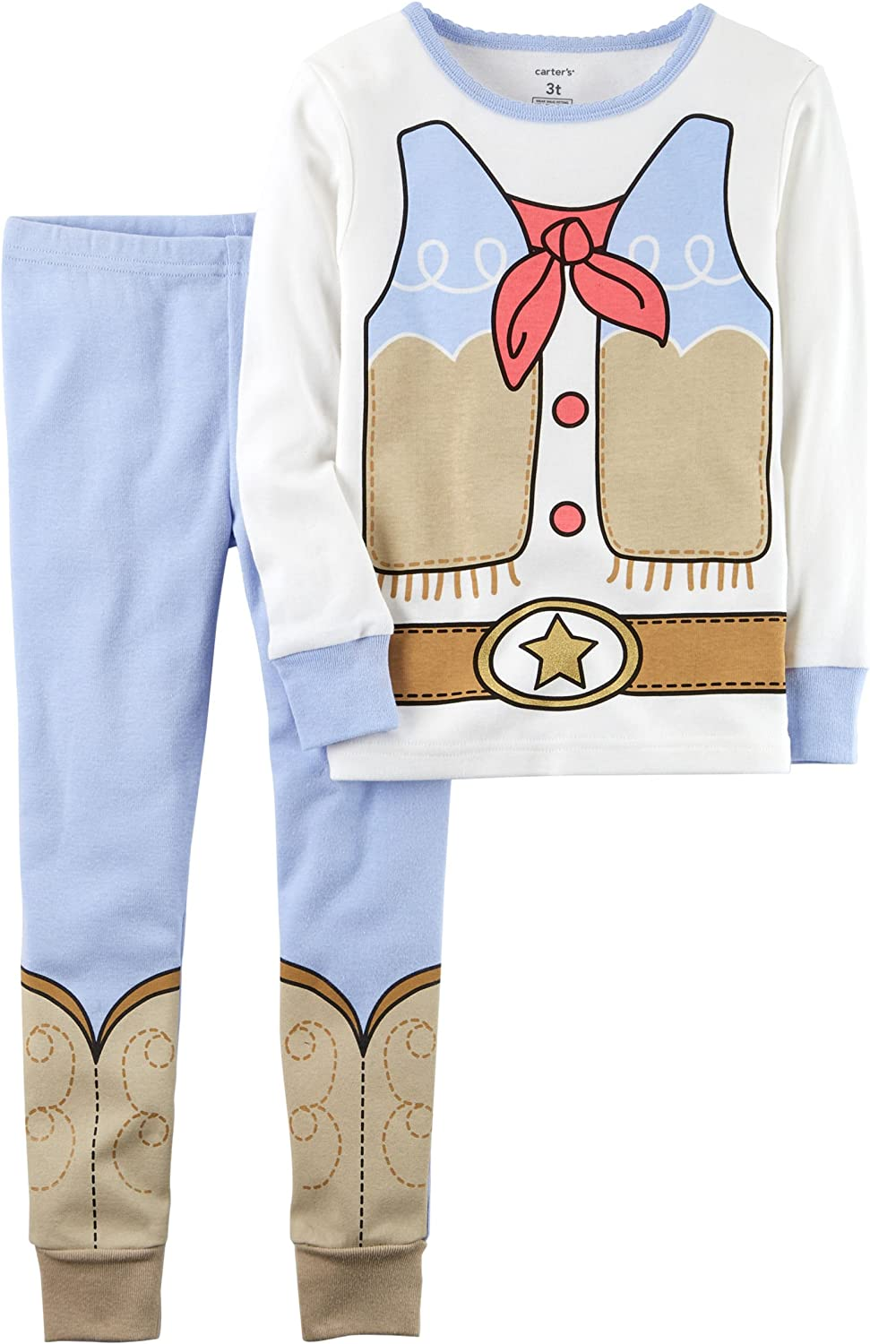Carters Baby Girls 2Piece PJ Set 8, Cowgirl Baby