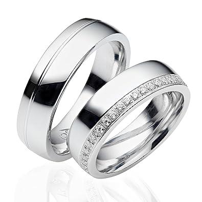 28e41d6e1b56 alianzas alianzas de anillos de compromiso Amistad Anillos Plata de ley 925    Incluye Funda y piedras   LC05  Amazon.es  Joyería