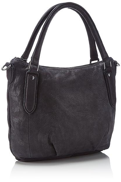 5c4f9e7ff77 Liebeskind Berlin Gina Silky Suede Leather, Women s Top-handle Bag, Black ( black 0001), 37x26x11 cm (B x H x T)  Handbags  Amazon.com