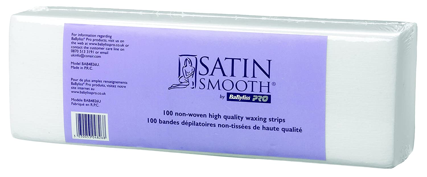 Babyliss Pro Satin Smooth Non Woven High Quality Waxing Strips - Pack of 100 BAB4826U