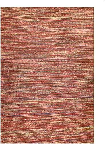 Mats Inc. Sari and Jute Area Rugs, 4 x 6 , Red
