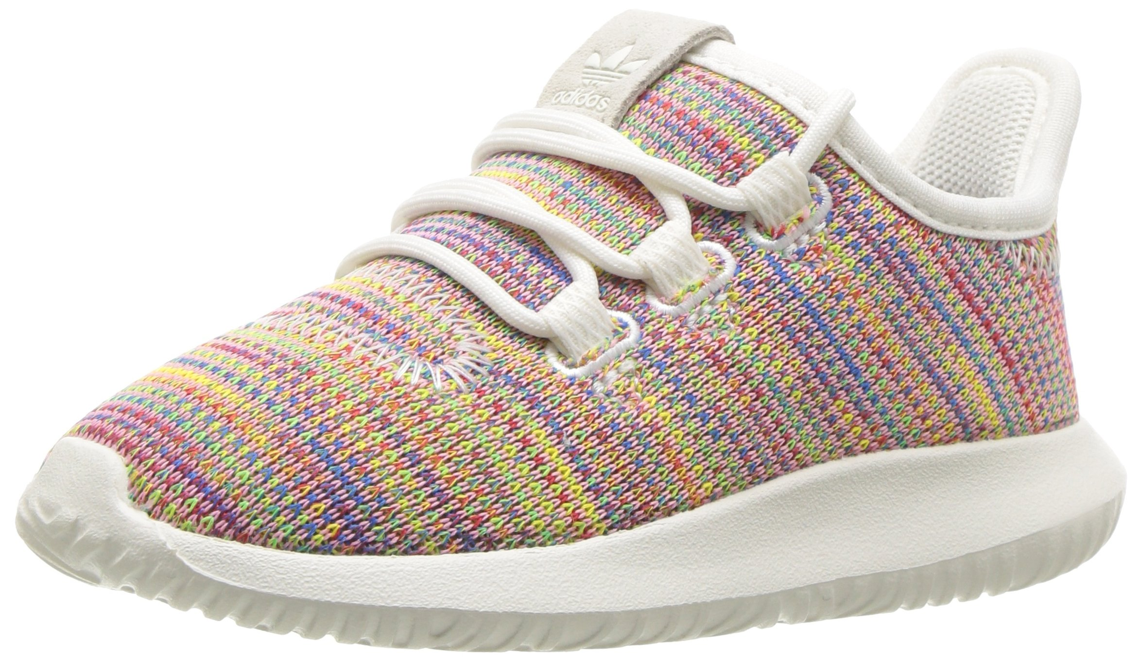 adidas Originals Unisex Tubular Shadow, White Blue, 1 M US Little Kid