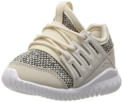 watch 53be4 a5299 adidas Originals Boys  Tubular Radial I Running Shoe,  Clear Brown Collegiate Silver